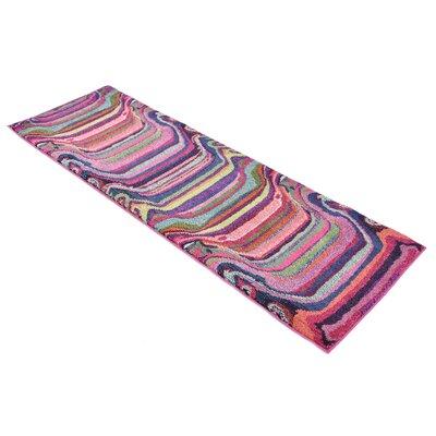 Vigna Purple/Pink Area Rug Rug Size: Runner 22 x 67