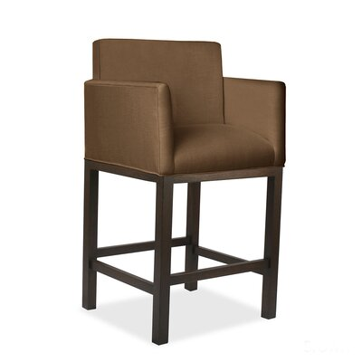 Hanshaw 30 Bar Stool Upholstery: Brown