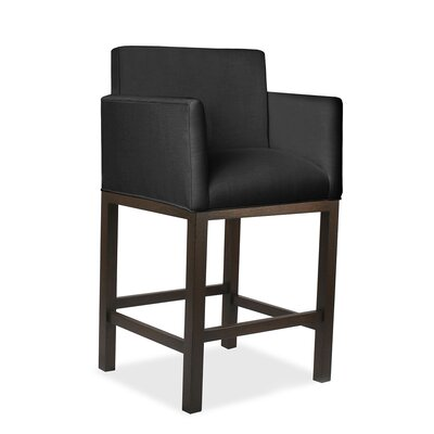Hanshaw 30 Bar Stool Upholstery: Charcoal