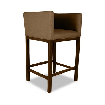 Haralson 26 Bar Stool Upholstery: Brown