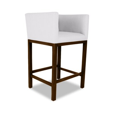 Haralson 30 Bar Stool Upholstery: White