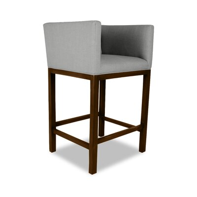 Haralson 26 Bar Stool Upholstery: Gray