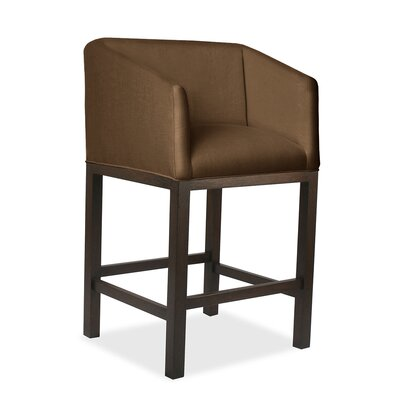 Harber 30 Bar Stool Upholstery: Brown