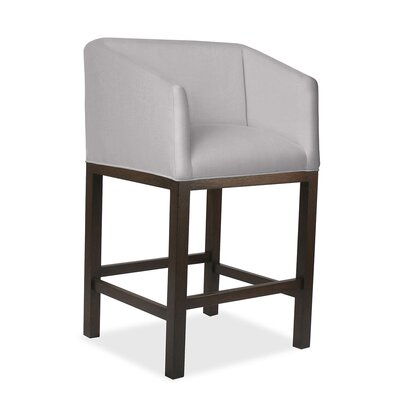 Harber 26 Bar Stool Upholstery: Gray