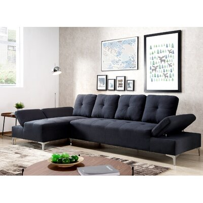 Colon Sectional Upholstery: Dark Blue