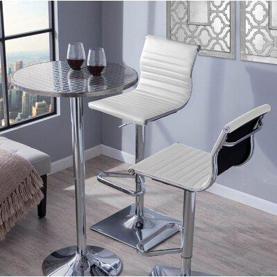 Summer Adjustable Height Swivel Bar Stool Upholstery: White