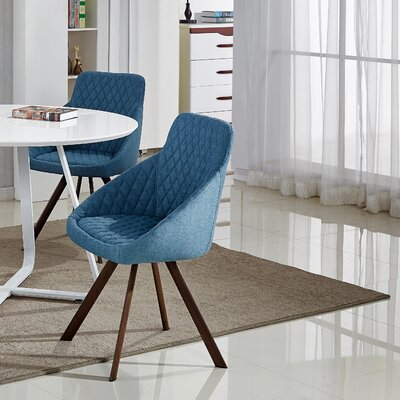 Goodspeed Upholstered Dining Chair (Set of 2) Upholstery Color: Jewel Blue