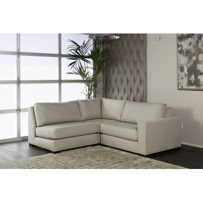 Brose Sectional Upholstery: Sand, Orientation: Left Hand Facing