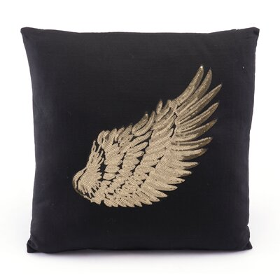 Whitlow Metallic Wings Throw Pillow