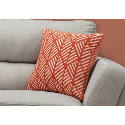 Darren Geometric Design Square Throw Pillow Color: Orange