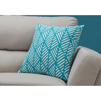 Darren Geometric Design Square Throw Pillow Color: Teal