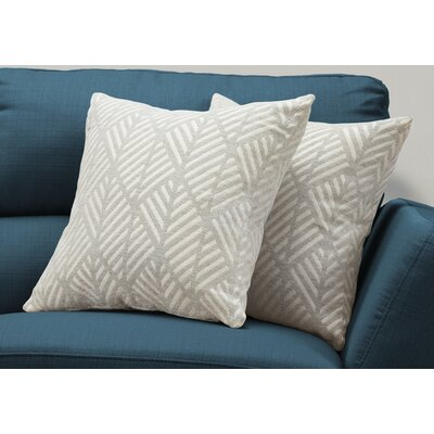 Darren Geometric Design Throw Pillow Color: Gray