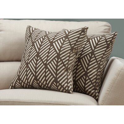 Darren Geometric Design Throw Pillow Color: Dark/Taupe