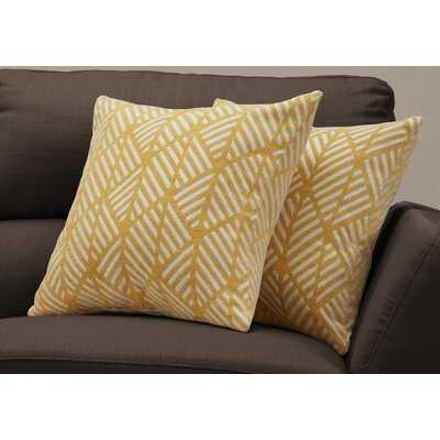 Darren Geometric Design Throw Pillow Color: Yellow