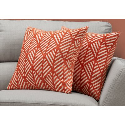 Darren Geometric Design Throw Pillow Color: Orange