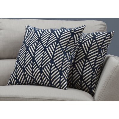 Darren Geometric Design Throw Pillow Color: Dark/Blue