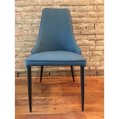 Cunha Upholstered Dining Chair Upholstery Color: Blue