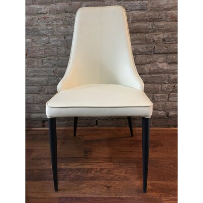 Cunha Upholstered Dining Chair Upholstery Color: Beige
