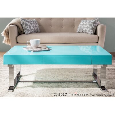 Arabella Contemporary Coffee Table Table Top Color: Light Blue
