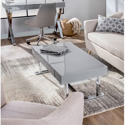 Arabella Contemporary Coffee Table Table Top Color: Gray