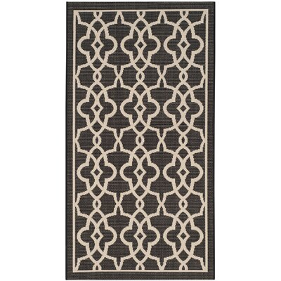 Mcguffin Black/Beige Indoor/Outdoor Area Rug Rug Size: Rectangle 27 x 5