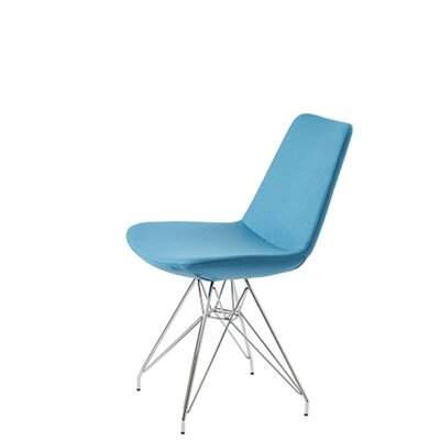 Shinkle Tower Upholstered Dining Chair Upholstery Color: Sky Blue Organic Wool