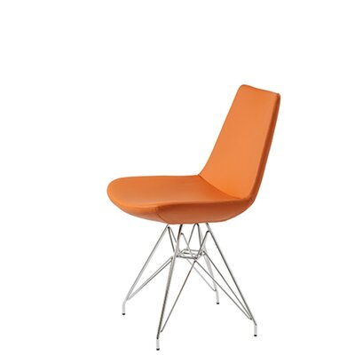 Shinkle Tower Upholstered Dining Chair Upholstery Color: Pastel Orange Leatherette