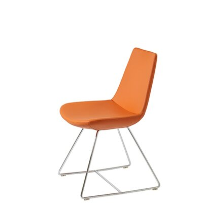 Shinkle Upholstered Dining Chair Upholstery Color: Pastel Orange Leatherette