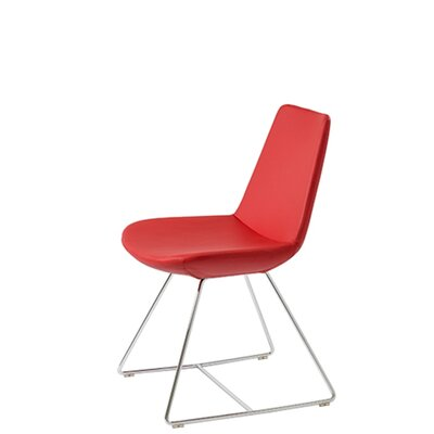 Shinkle Upholstered Dining Chair Upholstery Color: Red Leatherette