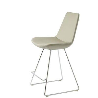Shinkle 24 Bar Stool Seat Color: Bone Leatherette