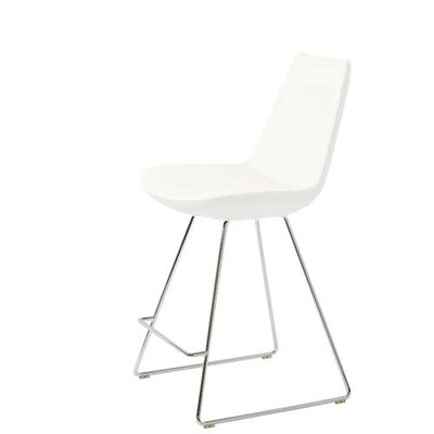 Shinkle 29 Bar Stool Seat Color: White Leatherette