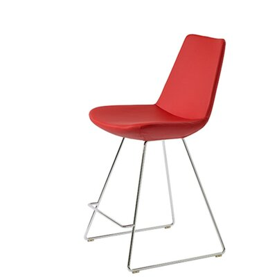 Shinkle 24 Bar Stool Seat Color: Red Leatherette