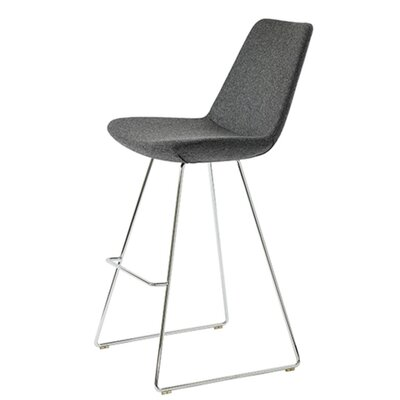 Shinkle 29 Bar Stool Seat Color: Dark Gray Organic Wool