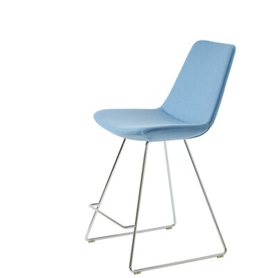 Shinkle 24 Bar Stool Seat Color: Sky Blue Organic Wool