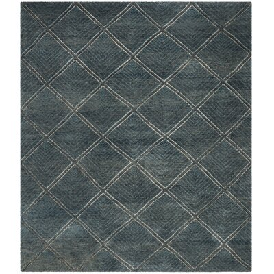 Wysocki Hand Tufted Wool Charcoal Area Rug� Rug Size: Rectangle 8 x 10