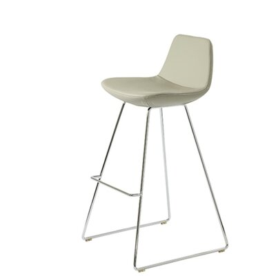 Shinn 29 Bar Stool Seat Color: Bone Leatherette