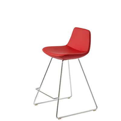 Shinn 29 Bar Stool Seat Color: Red Leatherette