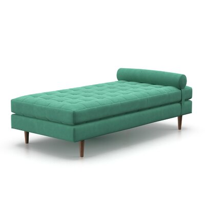 Allman Chaise Lounge Color: Duck Egg