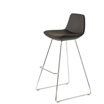 Shinn 29 Bar Stool Seat Color: Brown Leatherette