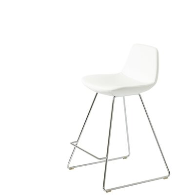Shinn 29 Bar Stool Seat Color: White Leatherette