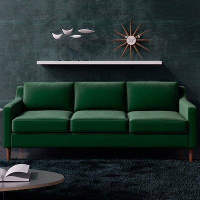 Pledger Sofa Upholstery: Emerald Green