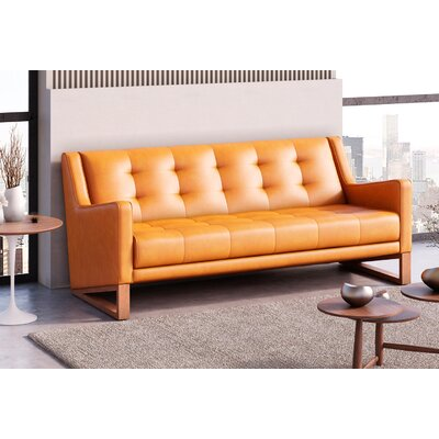 Donnell Sofa Upholstery: Honey Tan