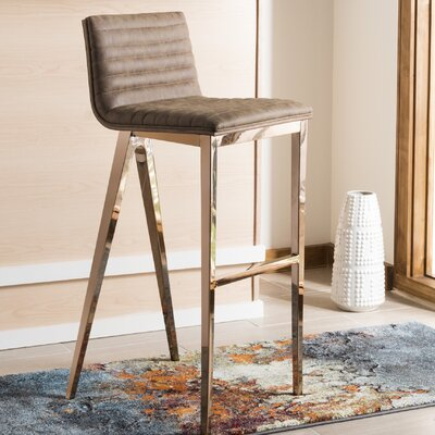 Corbeil Bar Stool Color: Brown