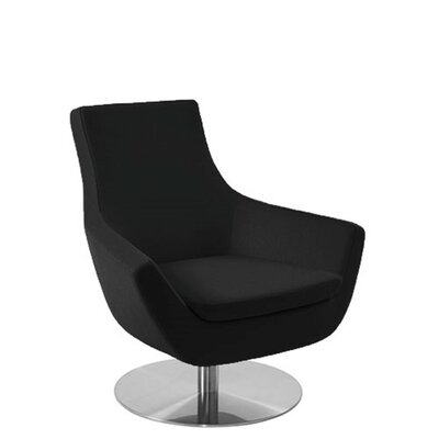 Shipley Swivel Armchair Upholstery: Black Leatherette