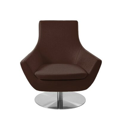Shipley Swivel Armchair Upholstery: Brown Leatherette