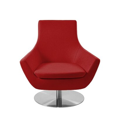 Shipley Swivel Armchair Upholstery: Red Leatherette