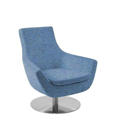 Shipley Swivel Armchair Upholstery: Sky Blue