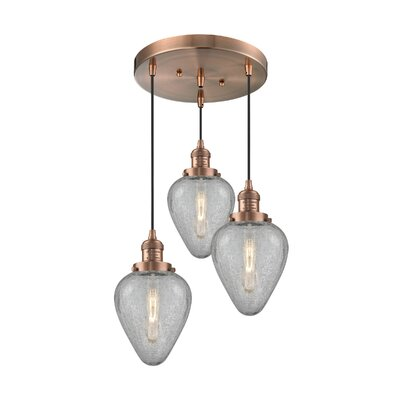 Bontrager 3-Light Cluster Pendant Finish: Antique Copper