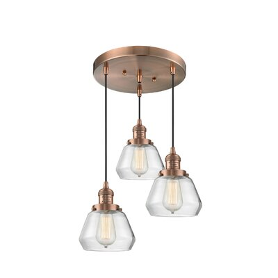 Dupree 3-Light Cluster Pendant Finish: Antique Copper