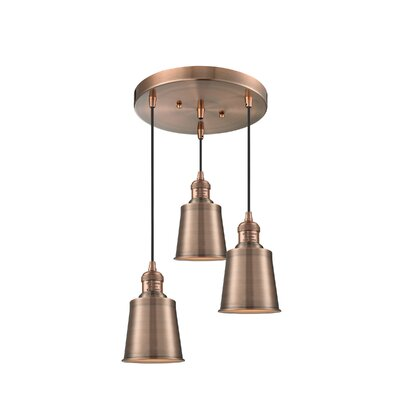 Carn 3-Light Cluster Pendant Finish: Antique Copper